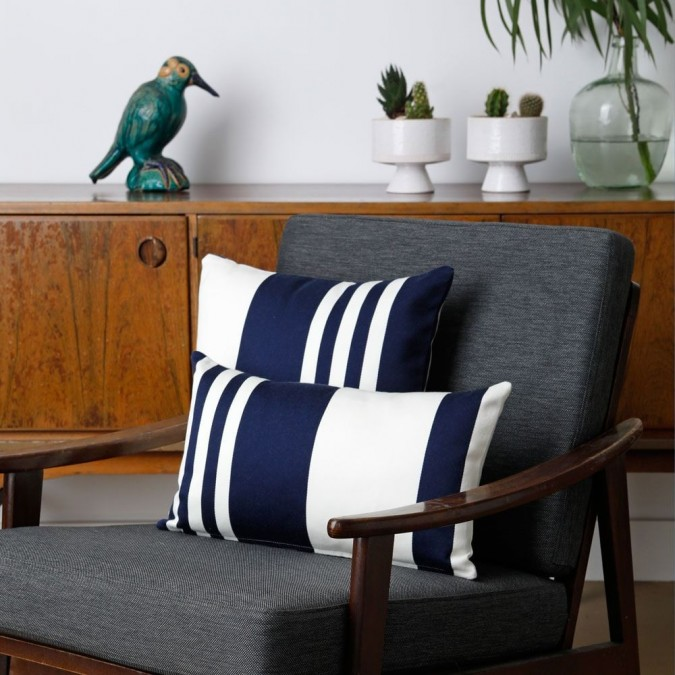 Cushion cover Pamplona blue cotton