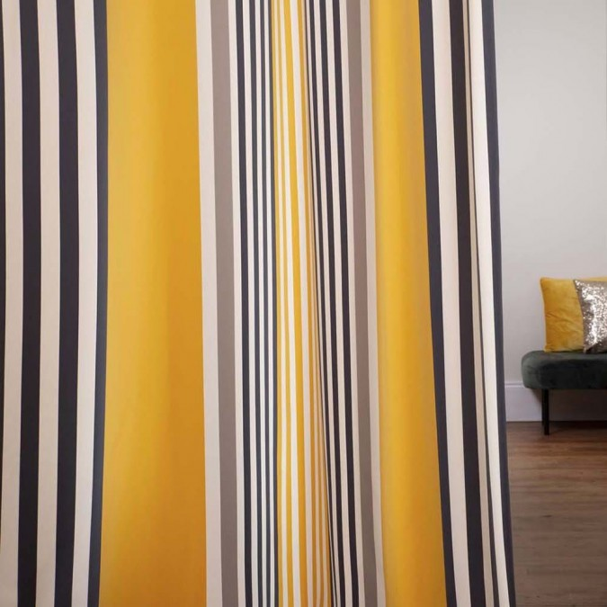 Curtain Ainhoa Gold modern and colourful