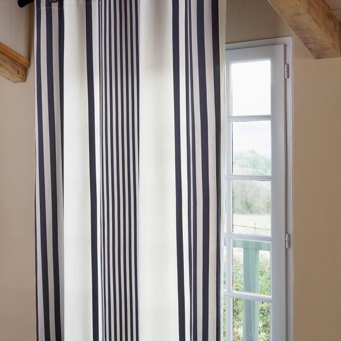 Curtain Ainhoa Satin cotton réglisse