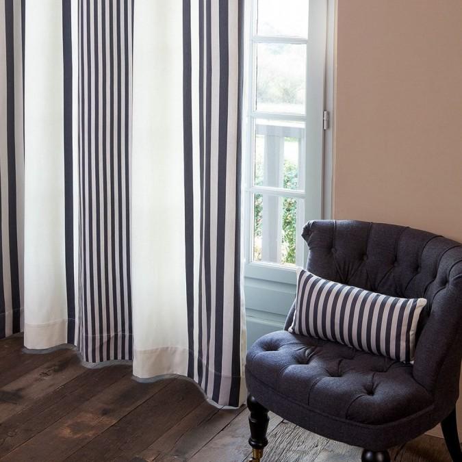 Curtain Ainhoa Réglisse 100% cotton