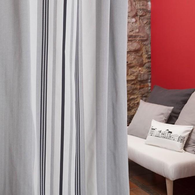 Cortina de algodón Donibane color gris