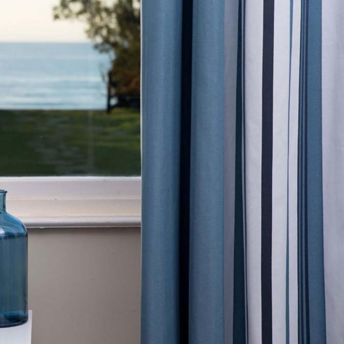 Cortina de algodón Donibane con rayas azules