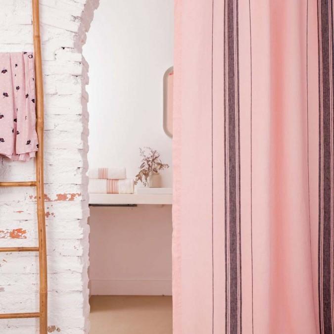 Cortina de Beaurivage en color rosa de lino