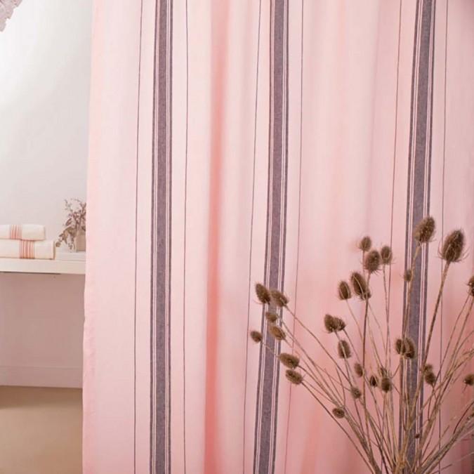 Cortina de lino ligero Beaurivage en color rosa