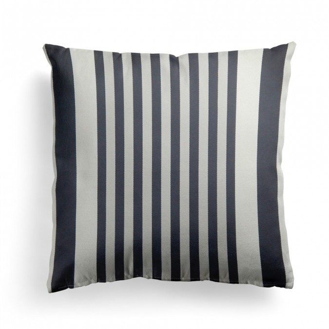 Cushion cover Ainhoa black cotton 40x40