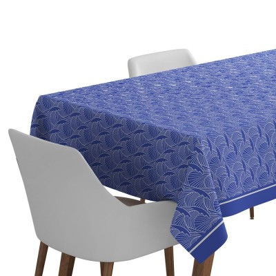 Tablecloth Bilbatu with wave patterns