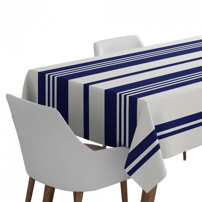Tablecloth Pampelune color ink blue