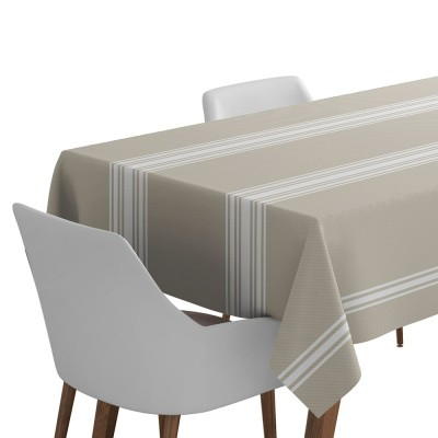 Cotton tablecloth Saint-Jean-de-Luz color white