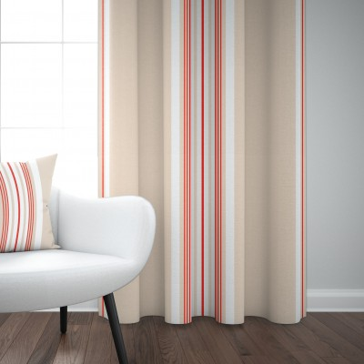 Donibane cotton curtain Strawberry colour