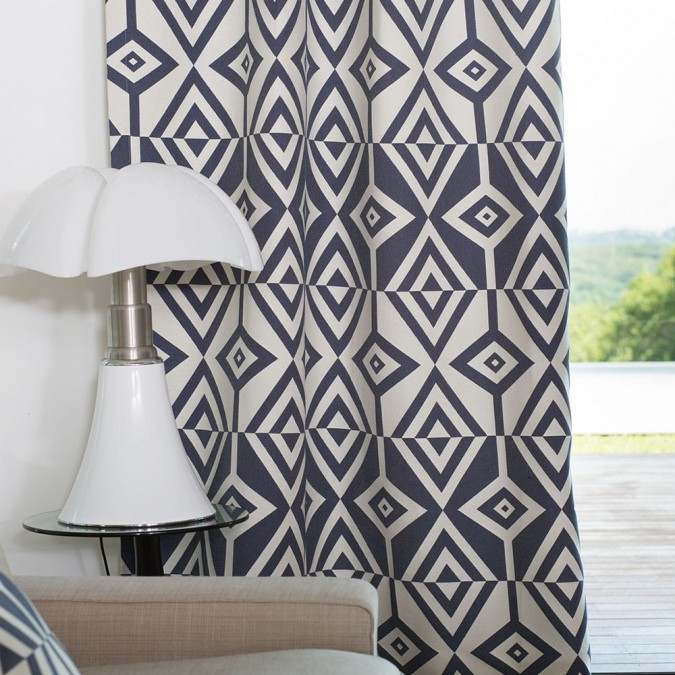 Curtain Artez Encre Modern and colourful