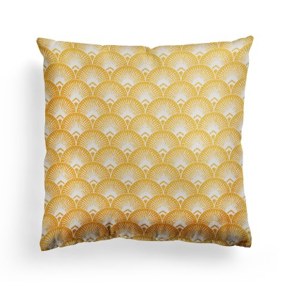 Cushion cover Bilbatu ramages mango bicolor