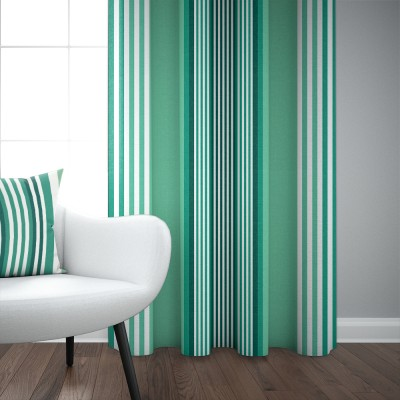 Cotton satin curtain Ainhoa Celadon