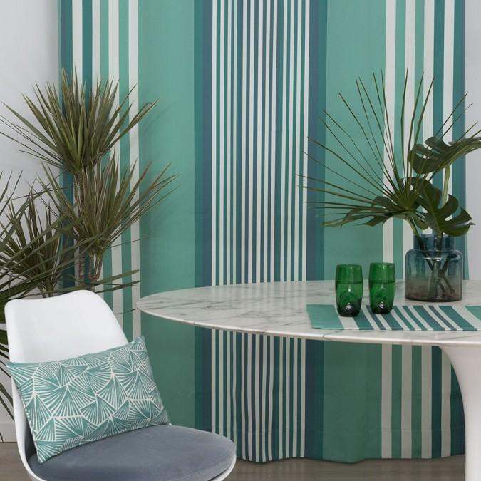 Ainhoa cotton curtain celadon colour