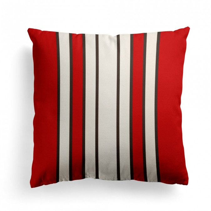 Cushion cover Espelette Amarante 40x40