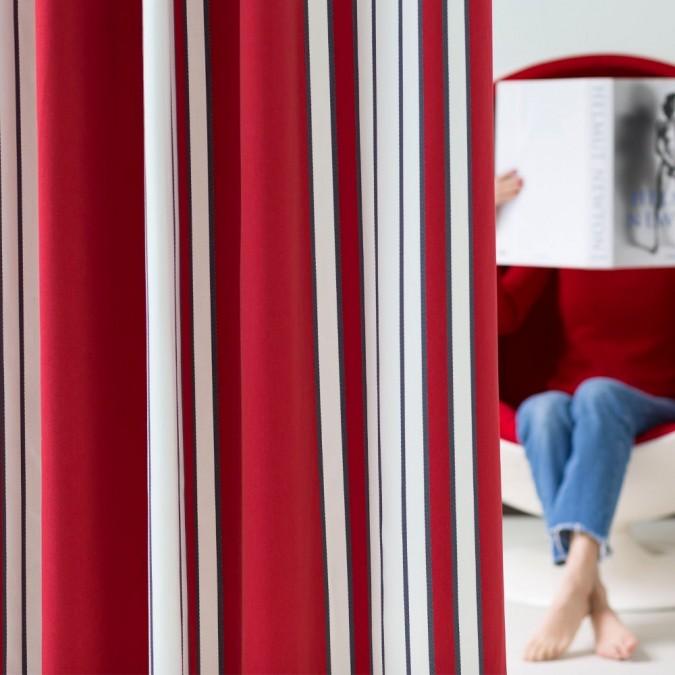 Rideau Espelette Amarante haut de gamme