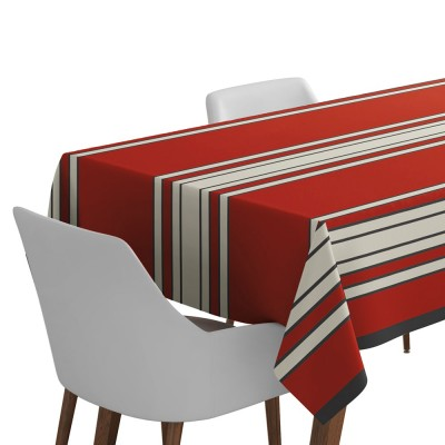 Nappe de table Espelette couleur rouge