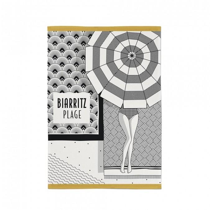 Torchon Kontatu Biarritz Graphite Maison Jean Vier