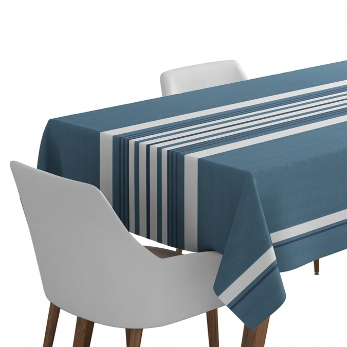 Tablecloth Donibane ocean blue color