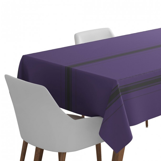 Beaurivage tablecloth in purple color linen