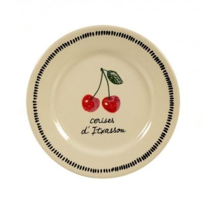 Assiette plate Cerise Rouge