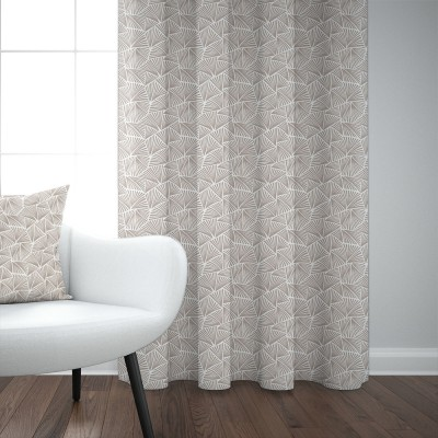 Cotton curtain Palma Grege