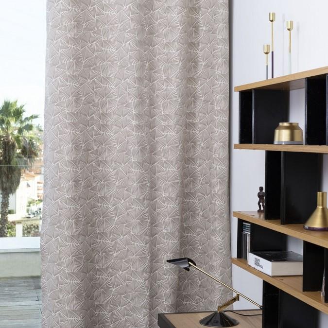 Palma curtain in Jacquard grege weave