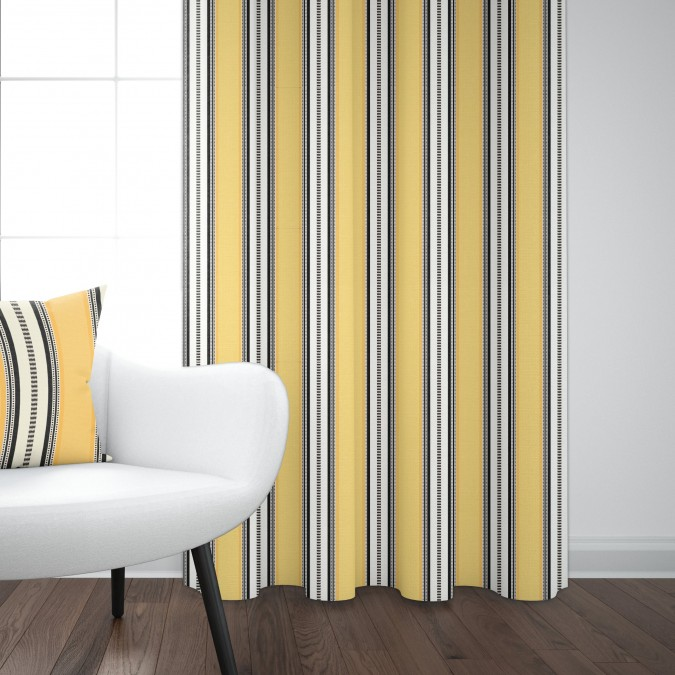 Cotton curtain Barne Gold