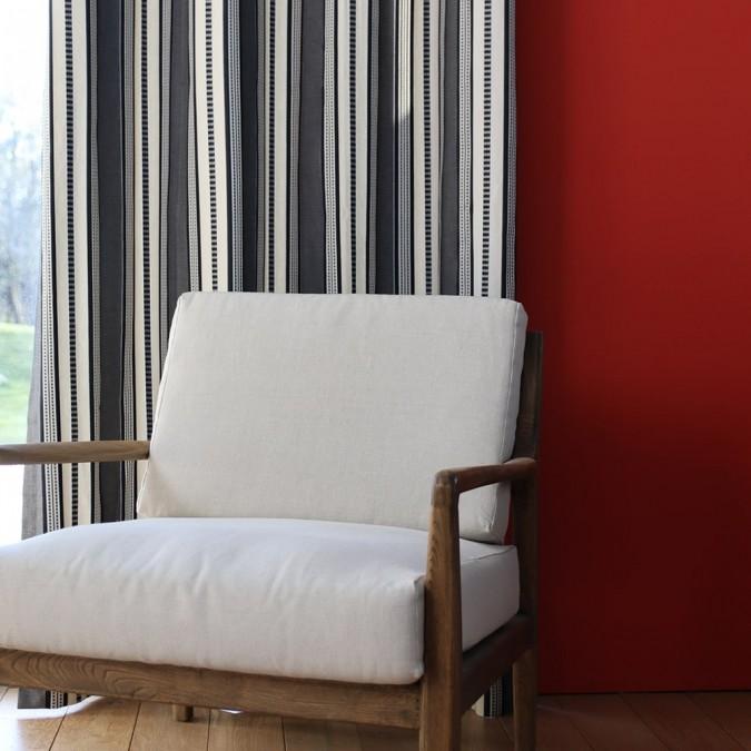 Curtain Barne Jacquard weave black curtain