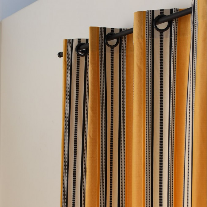 Curtain Barne weave Jacquard curtain Gold color
