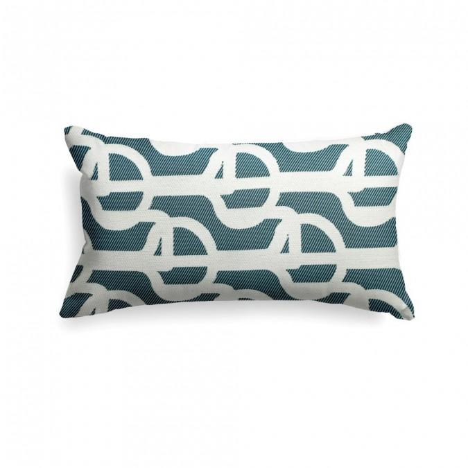 Cushion cover Amarra color blue 25x45
