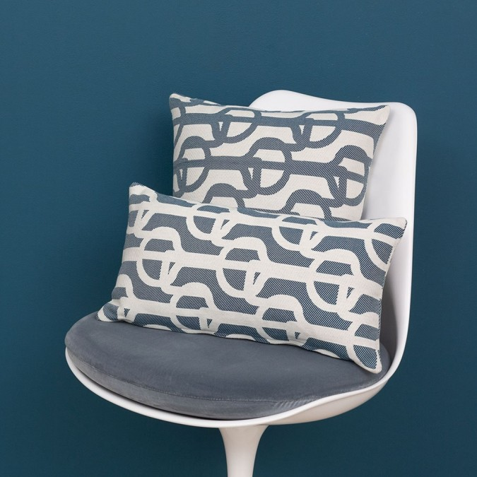 Cotton cushion cover Amarra color blue