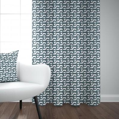 Curtain cotton Amarra petrol colour