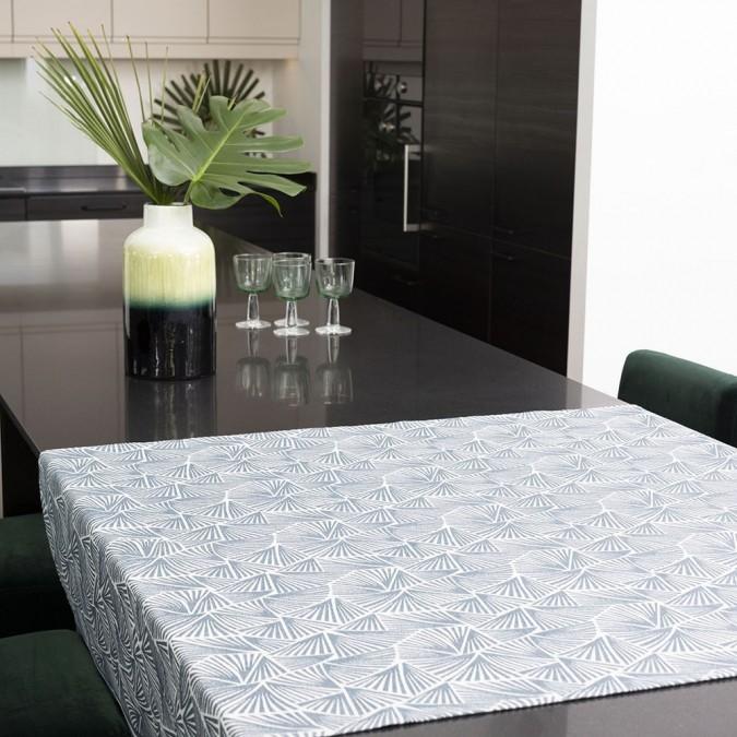 Petrol blue tablecloth and original design