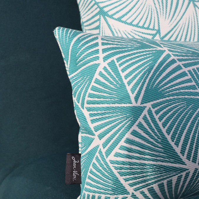 Cushion cover Palma in blue jacquard weave