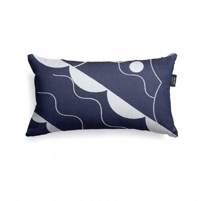 Cushion cover Mapoésie Arabesque blue