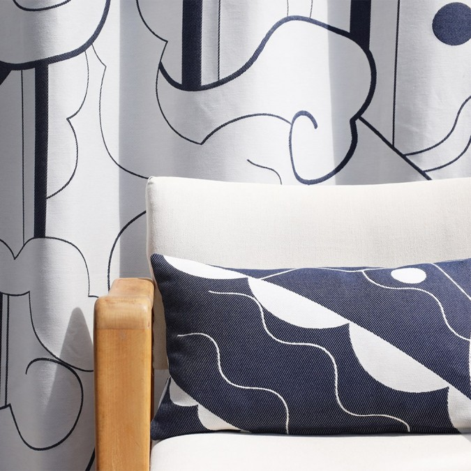 Cushion cover Mapoésie Arabesque jacquard weave