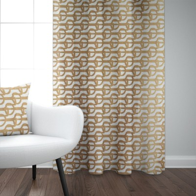 Cotton curtain Amarra sand colour