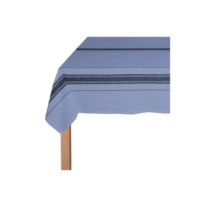nappe basque en lin bleue