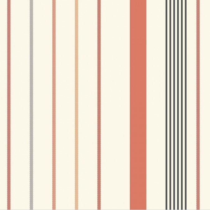 Fabric by the metre Ustaritz Terracotta 100% cotton