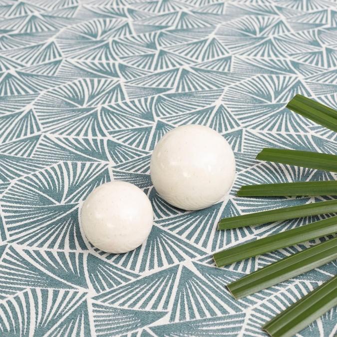 Fabric by the metre Bilbatu Palma Petrol 100% cotton
