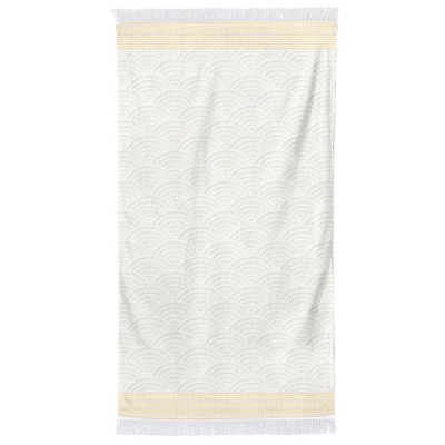 Beach towel Artea Golden Yellow Cotton
