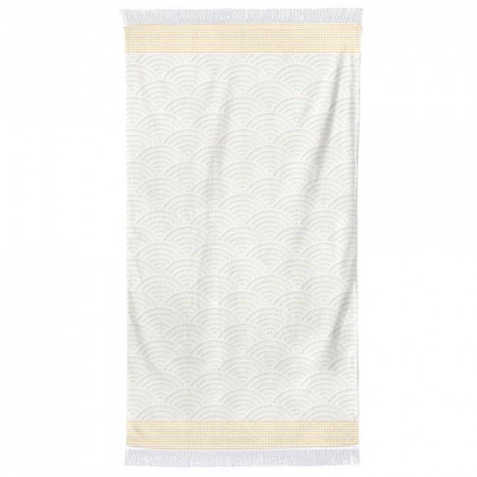 Beach towel Artea Golden Yellow Cotton
