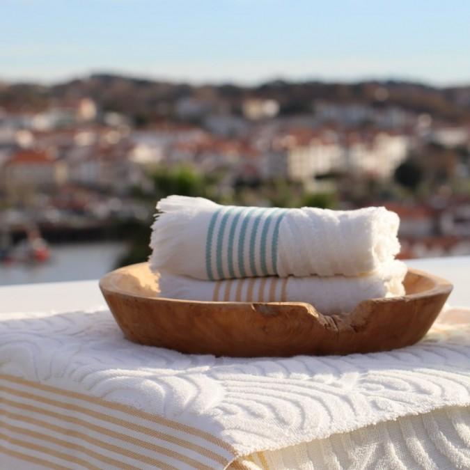 Beach towel Artea Yellow 100% cotton