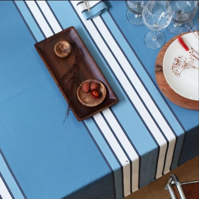 elegant tablecloth espelette midnight blue