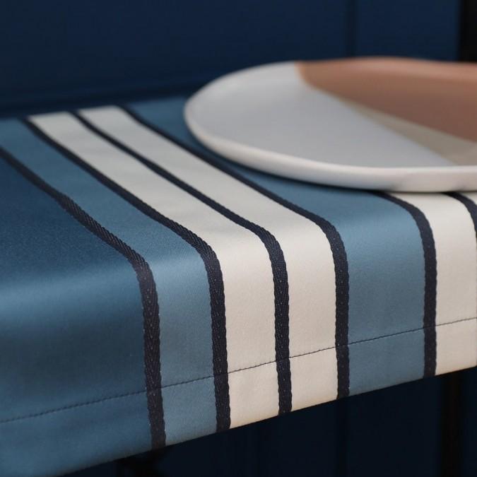 Set de table Espelette couleur bleu et blanc