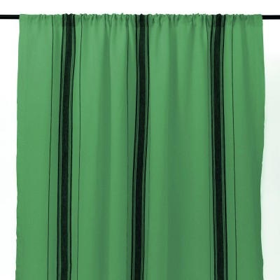 cortina en lino verde