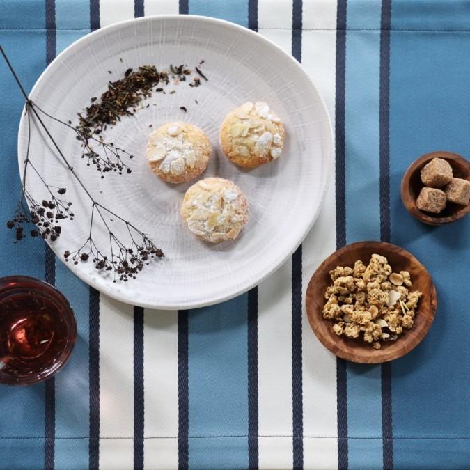 Placemat Espelette Bleu Nuit, elegant and trendy.