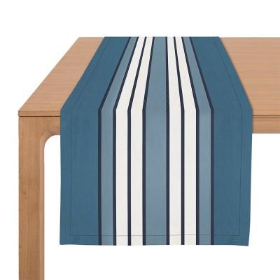Table Runner Espelette Bleu Nuit