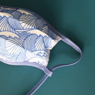 masque taille petite pour enfant aux motifs de vagues