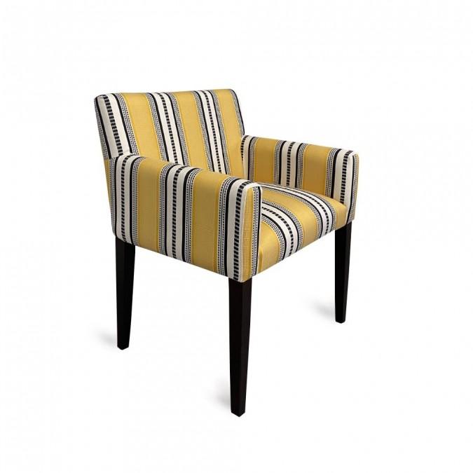 fauteuil jaune en Jacquard.